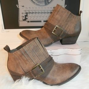 Altar'd State Brown Ankle Boots with Buckle - NWOT